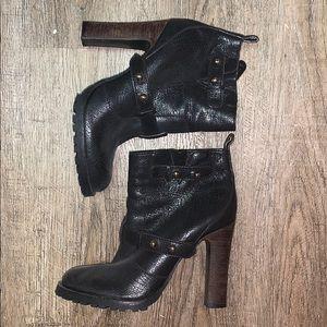 Tory Burch block heel booties